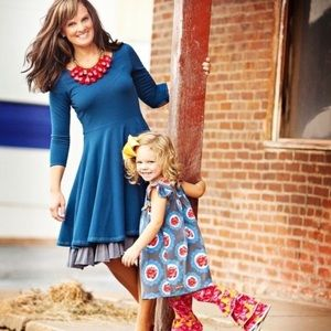 Mama dress navy